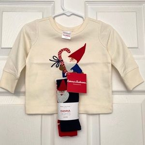 HANNA ANDERSSON Gnome Sweet Gnome Shirt and Tights